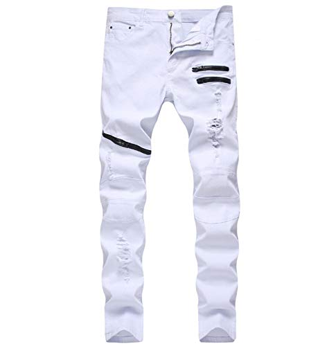 ShZyywrl Pantalones Jeans Jean Pantalones con Agujeros Rectos, Pantalones Vaqueros para Hombre, Pantalones Vaqueros para Hombre, Pantalones Vaqueros De Moda Pa
