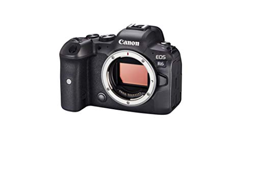 Canon EOS R6 Body Only - Full Frame Mirror Less Camera Built for Stills and Video (Silent Continuous Shooting at Up to 20 Fps, 4K Up to 60p, Up to 8 Stop Stabilisation, Dual Pixel CMOS AF II)