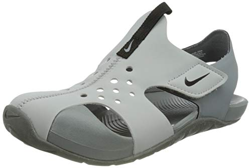 Nike Sunray Protect 2 (PS) Slide Sandal, Wolf Grey/Black-Cool Grey, 31 EU