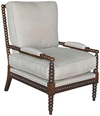 Robbin Dark Brown Oak Chair Oatmeal Linen by Helena House