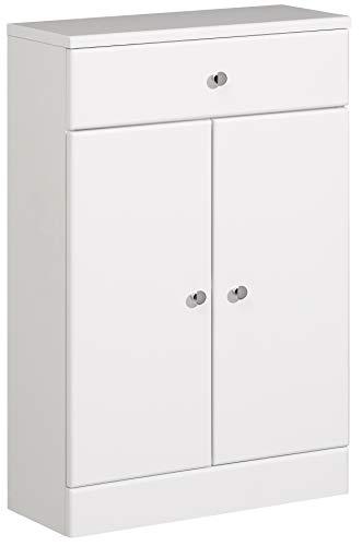 Pelipal 954 Small Unterschrank, Holzdekor, Weiß Hochglanz, 20,0 x 50,0 x 82,0 cm