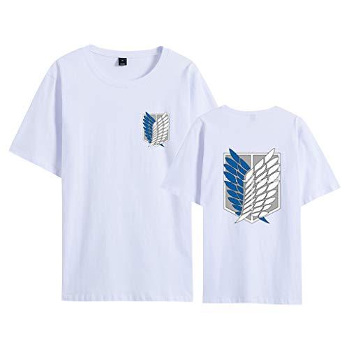 Maglietta Attack on Titan per Uomo Donna Bambino, 3D Shingeki No Kyojin Scout Regiment Wings of Liberty Badge Anime Cosplay Moda Stampa T Shirt Manica Corta Tee Maglia Shirt Camicia Tops (WA,XL)