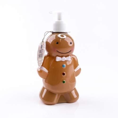 Accentra Seifenspender Lebkuchen-mann mit Flüssigseife - Weihnachtliche Seife mit Gingerbread Duft - Weihnachts-deko für das Badezimmer - 310ml Handseife
