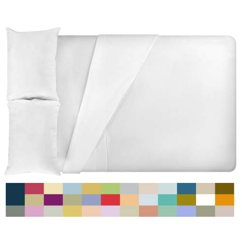 LuxClub 4 PC Microfiber and Bamboo Sheet Set: Bamboo Bedding Sheets with Microfiber - Softer and More Breathable Than Cotton - Antibacterial and Hypoallergenic - Machine Washable, Whiter, Queen