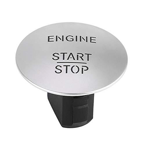 YlRNhe - Interruptor de botón de arranque para motor de coche sin llave para Mercedes Benz modelo W164 W205 W212 W213 W164 W221 X204 2215450714, plástico abs, Plateado, approx. 3.5cm