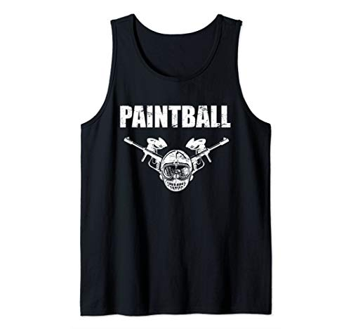 Paintball mask and paintball guns for paintball group Tank Top