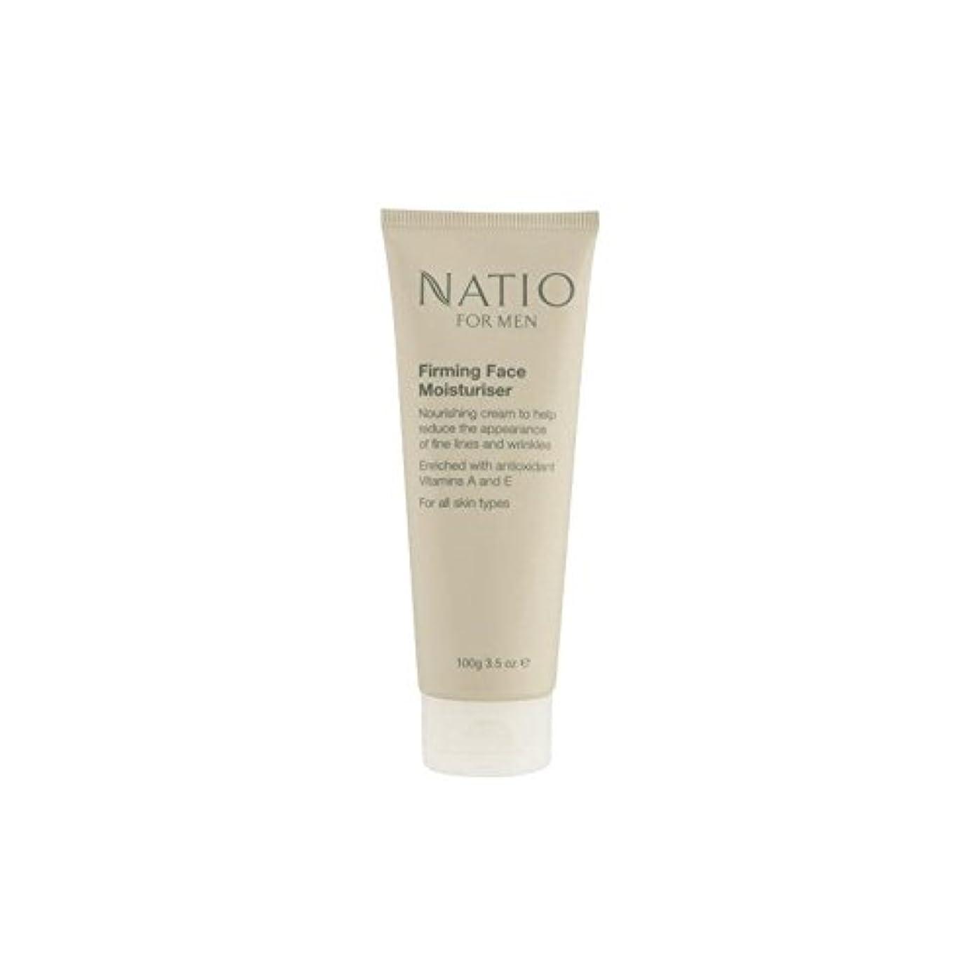 潮長さ促進するNatio For Men Firming Face Moisturiser (100G) (Pack of 6) - 顔の保湿剤を引き締め男性のための(100グラム) x6 [並行輸入品]