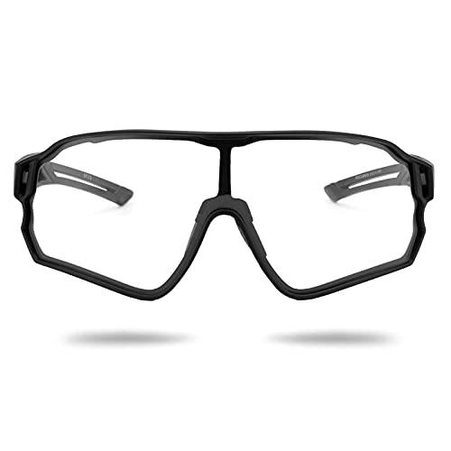 ROCKBROS Gafas Fotocromáticas de Bicicleta Protección UV400 para Hombres Mujeres, Gafas Deportivas para Ciclismo Running Deportes al Aire Libre