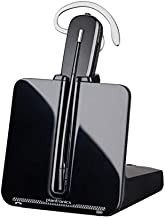 Plantronics - CS540 Wireless DECT Headset (Poly) - Single Ear (Mono) Convertible (3 wearing styles) - Connects to Desk Phone - Noise Canceling Microphone