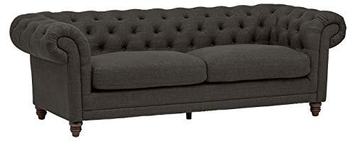 Amazon Brand – Stone & Beam Bradbury Chesterfield Classic Sofa, 92.9'W, Pepper