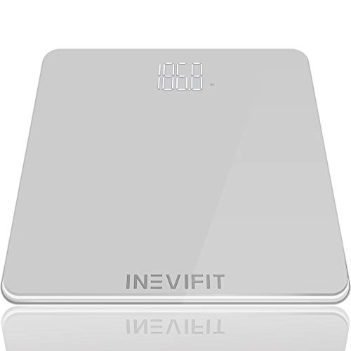 INEVIFIT Bathroom Scale Highly Accurate Digital Bathroom Body Scale Precisely Measures Weight up to 400 lbs