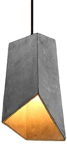 HMKJ Lámpara colgante de la vendimia E27 Cemento Candentes de techo Soporte de luz de techo Lámpara colgante de hormigón araña de la oficina