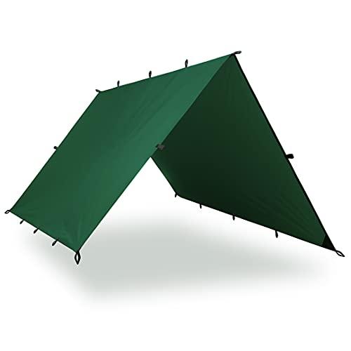 Aqua Quest Guide SIL Tarp - 100% Wasserdicht und Ultraleichtes Ripstop-Nylon Material - Backpacking Plane - 3 x 2 m Medium - Grün