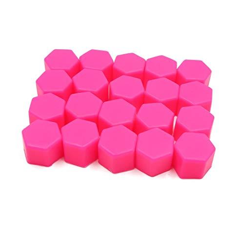 20 pezzi 21 mm gomma auto ruota pneumatico dado vite terminale copripolvere tappi mozzo protezione rosa