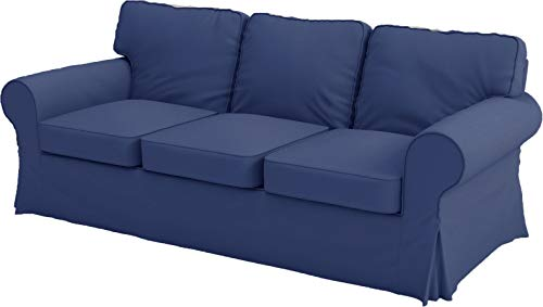 The Premium Heavy Cotton Ektorp 3 Seat Sofa Cover Replacement is Custom Made for IKEA Ektorp Sofa Cover, an Ektorp Sofa Slipcover Replacement (Deep Blue)