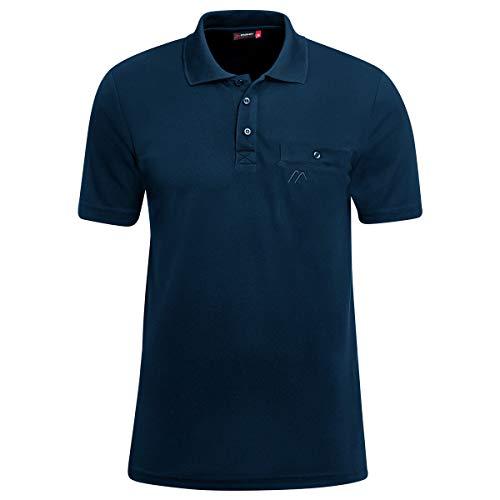 RENNER XXL Maier Arwin Herren Funktions-Polo-Shirt mit Brusttasche, Navy, 5XL