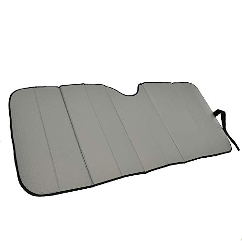 Motor Trend Front Windshield Sunshade - Gray Accordion Folding Auto Shade for Car Truck SUV 58' x...