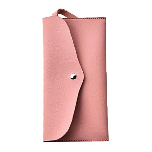 Maquillage Sac cosmétique pour sac à main Crayon Housse en cuir pratique Organisateur pour Rouge à lèvres Mascara Brosses de base cosmétiques (rose)