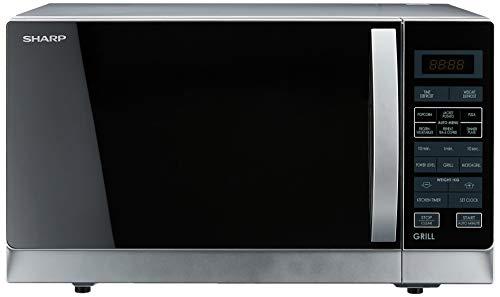 Sharp R-72A1(SM) V 25-Liter 900W Microwave Oven, 220-volt (Non-USA Compliant), Silver