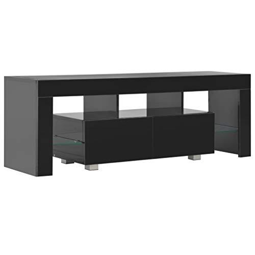 vidaXL Mueble TV Luz LED Diseño Moderno 2 Cajones + Estantes Módulo...