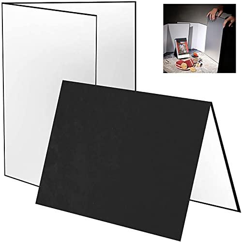 Licht Reflektor, Fotografiereflektor A3, 3-in-1 Fotografie Zubehör Reflektor Cardboard 29.6X42cm Faltender Licht Diffusor Brett Hintergrund für Produktfotografie und Videoaufnahmen Schwarz/Weiß/Silber