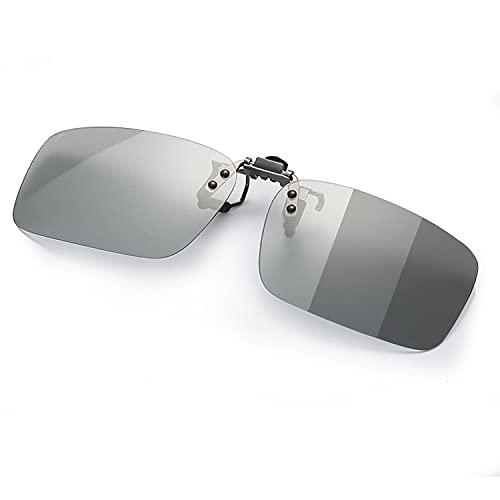 調光 クリップオン サングラス めがねの上から 変色 偏光 メガネ 取り付け 偏光サングラス 跳ね上げ式 ドライブ 運転 メガネの上からかけるサングラス (跳ね上げ式変色調光レンズ)