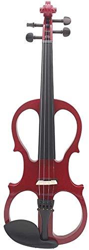 ZYF Violines Noche 4/4 Rojo electroacústico violín Instrumento de Cuerda Arte violín Instrumento Musical Rojo Rojo