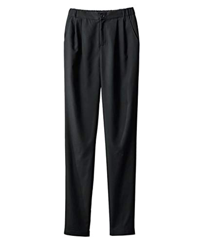 [nissen(ニッセン)] のびる裏微起毛ゆるテーパード パンツ 大きいサイズ レディース