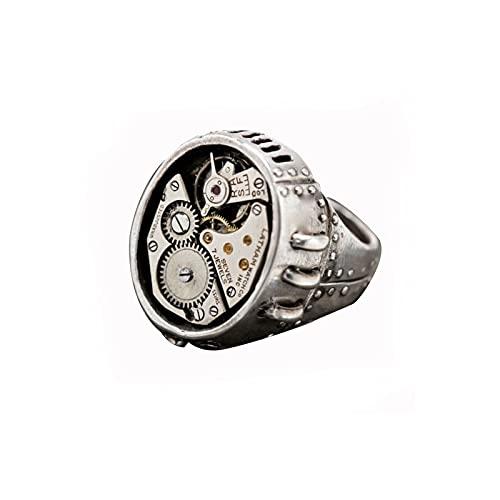 OOCA Precisión mecánica dial Reloj diseño Metal Sentido Engranaje Forma Movimiento Accesorios Anillo Macho