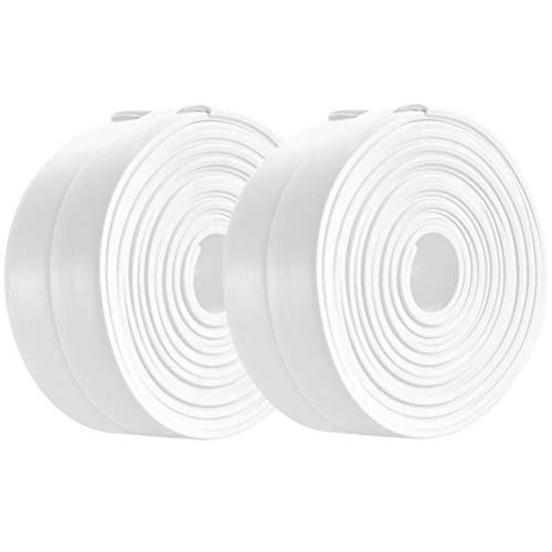 Tape Caulk Strip, PVC Self Adhesive Caulking Sealing Tape for Kitchen Sink Toilet Bathroom Shower and Bathtub