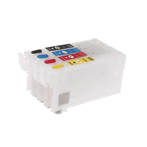 WSCHENG 35XL T35XL T3581 T3591 Cartucho de Tinta Recargable sin Chip para Epson Workforce WF-4720 4725 4730DWF WF-4730 4740 DTWF Impresoras