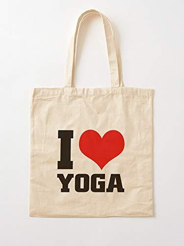Meditation Love Yoga Only Yoga Red Heart I Love Red Yoga Heart Yoga My Yoga Joga | 100% natürliche Baumwolle, perfekt zum Einkaufen, Laptop, Schulbücher