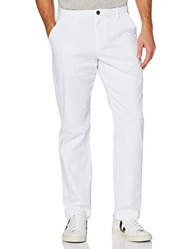 MERAKI Pantaloni Chino in Cotone Uomo, Bianco (bianco), 38W / 32L, Label: 38W / 32L