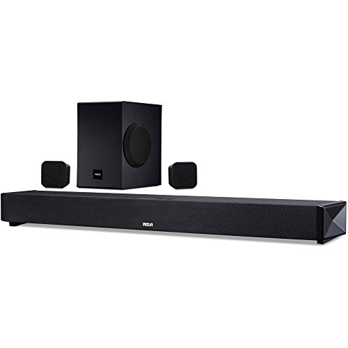 RCA (RTS739BWS) 5.1 Channel Wireless Surround Soundbar System - Wireless Subwoofer/Surround Speakers, Bluetooth