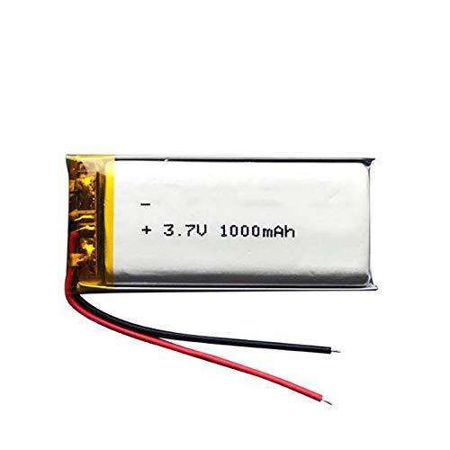 THENAGD Rechargeable Lithium Polymer Li-Po Li-Ion 3.7v 1000mah Battery, for Mp3 Mp4 Mp5 Gps Dvd Tablet Bluetooth Camera 1Pcsbattery