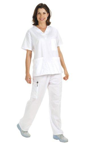 NCD Medical/Prestige Medical 50309-1 - Camisa de uniforme médico, color blanco, talla M
