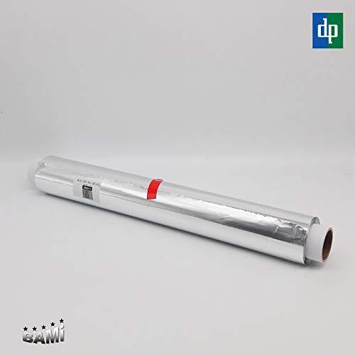 BAMI EINWEGARTIKEL 1 Rolle Alufolie Aluminiumfolie Alurolle, 45cm x 120m, 10µ, stark und reißfest