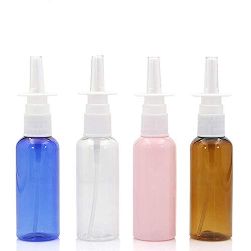 QPM 10 stks/partij 50ml kleurrijke neusspray rechte spray fles plastic fles make-up vloeibare dispensing gereedschapsstandaard