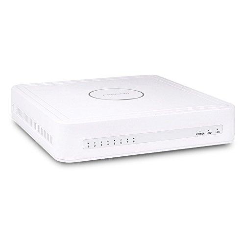 Foscam FN7108HE Network Video Recorder Canali, 8 Porte Poe e Funzione P2P, Bianco