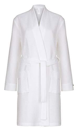 Taubert Spa Thalasso Short Kimono kurzer Bademantel 100 cm Pique L Weiss
