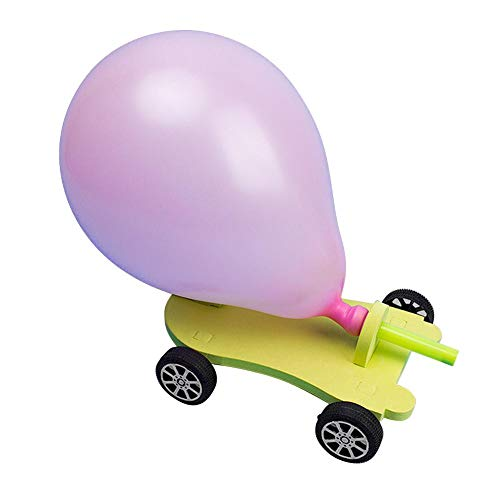 Palloncino auto, assemblaggio a mano fai da te divertente giocattoli educativi esperimenti scientifici Kit auto giocattolo per l'educazione prescolare giocattolo per bambini