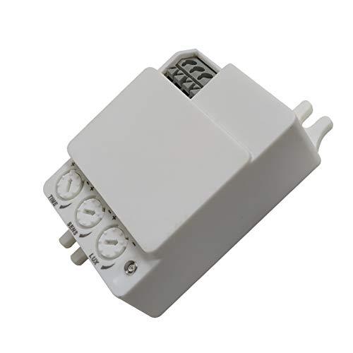 Detector de Movimiento por Radar. Detector de Presencia Altamente Sensible Gracias a la tecnología de Radar. Valido para instalacion en interior de plafones.