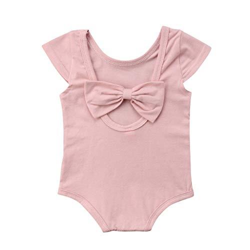 FENICAL 2pcs Newborn Baby Girl Cotton Clothes Bodysuit Romper Jumpsuit with Hat