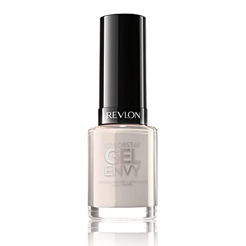 Revlon ColorStay Gel Envy Longwear Nail Polish, with Built-in Base Coat & Glossy Shine Finish, in Nude/Brown, 020 All or Nothing, 0.4 oz