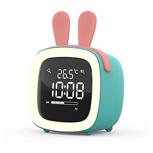 JSJJQAZ Relojes de Alarma Reloj de Alarma Digital, luz de Noche, Despertador de Escritorio, batería Recargable, Regalo for niños (Color : L)