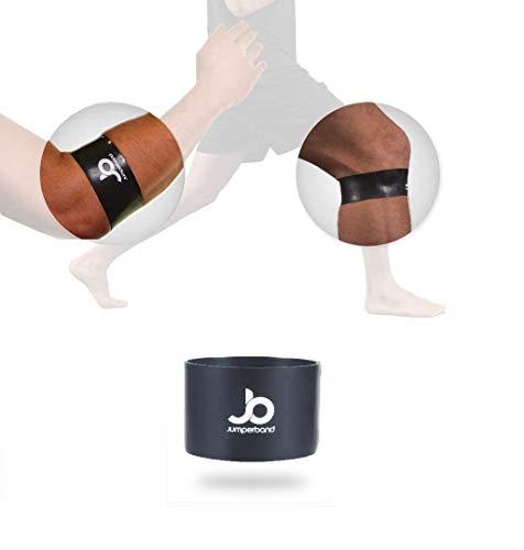 Jumperband comfort Meniskus Kreuzband Bandage (Knie/Arm) für Herren und Frauen (Sport, Fitness, Alltag) Lindert Schmerzen + Perfekte Passform + Überall Einsetzbar + Kein Verrutschen (M)