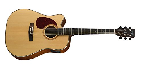 Guitarra CORT MR710Flh-Ns Dreadnought Cutaway Electro-Acústica en zurdo