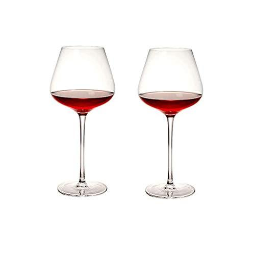 Wijnglazen Rode Wijnglazen Rode Wijnglas Set Van 2 Wijnglazen Bourgondië Premium Crystal Glass Great Gift Voor Elke Gelegenheid Kristalglas (Color : Clear)