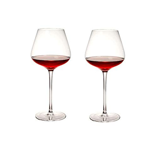SFF Copas de Vino Copas de Vino Tinto Conjunto de Copa De Vino Tinto de 2 Copas de Vino Burgundy Premium Crystal Glass Gran Regalo para Cualquier Ocasión Cristal (Color : Clear)