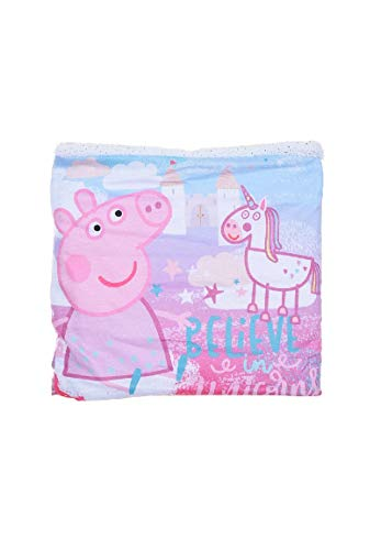 Peppa Wutz Pig Kinder Schal Schlauchschal Loop Snood, Farbe:Weiß